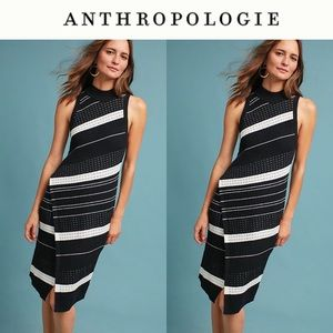 Anthropologie Asymmetrical turtleneck dress